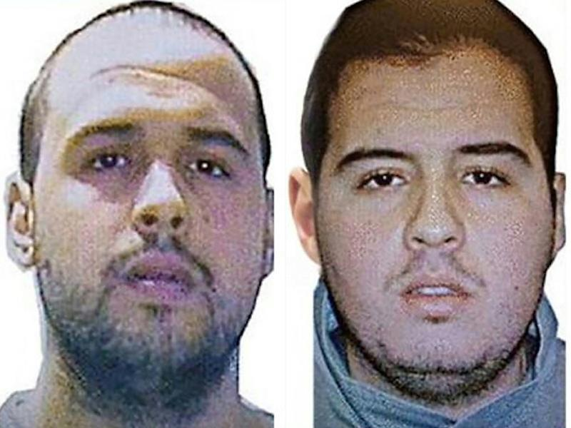 This combination of handout pictures obtained via Interpol on March 23, 2016 shows Khalid (L) and Ibrahim El Bakraoui, the two Belgian brothers identified as the suicide bombers who struck Brussels on March 22, 2016 (AFP Photo/)