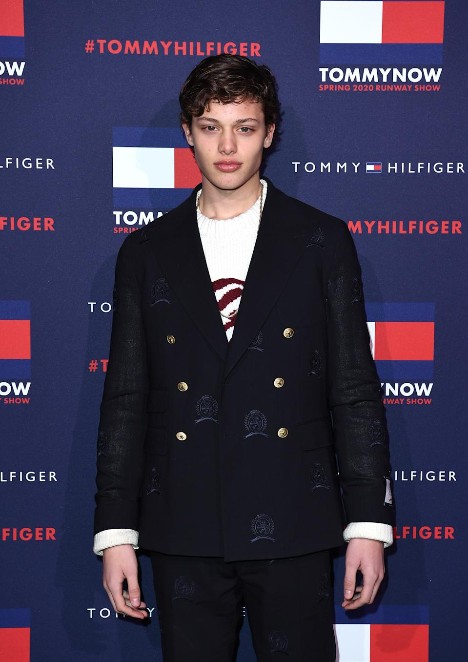 Bobby Brazier attends the TommyNow show during London Fashion Week February 2020 at the Tate Modern on February 16, 2020 in London, England. (Photo by Jeff Spicer/BFC/Getty Images for BFC)