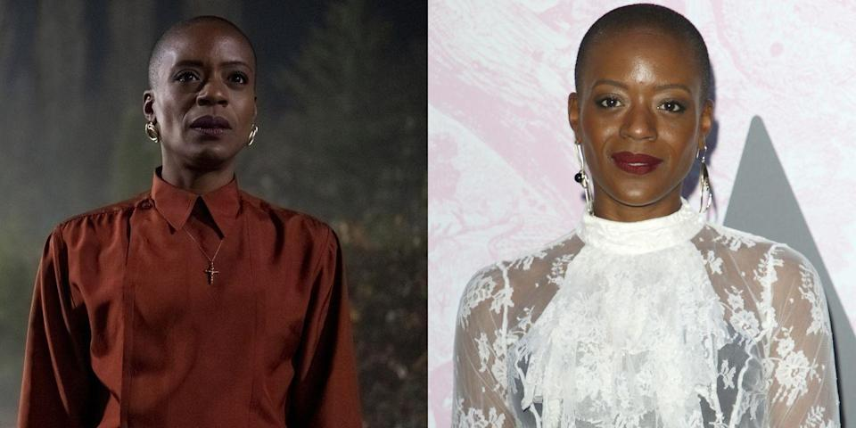 <p>British actress T'Nia Miller plays housekeeper Mrs. Grose in <em>The Haunting of Bly Manor</em>. She's previously appeared in <em>Sex Education</em>, <em>Doctor Who</em>, and <em>Years and Years,</em> and her star is sure to be on the rise after her scene-stealing performance in the horror anthology show.</p>