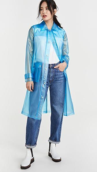 """<p><strong>Avec Les Filles</strong></p><p>shopbop.com</p><p><strong>$90.30</strong></p><p><a href=""""https://go.redirectingat.com?id=74968X1596630&url=https%3A%2F%2Fwww.shopbop.com%2Ftranslucent-hooded-rain-coat-avec%2Fvp%2Fv%3D1%2F1577573413.htm&sref=https%3A%2F%2Fwww.goodhousekeeping.com%2Fbeauty%2Ffashion%2Fg32585880%2Frainy-day-outfits%2F"""" rel=""""nofollow noopener"""" target=""""_blank"""" data-ylk=""""slk:Shop Now"""" class=""""link rapid-noclick-resp"""">Shop Now</a></p><p>On a cloudy day, the choice is clear: A translucent rain coat is fun and gives a pop of color to any jeans and t-shirt combo. </p>"""