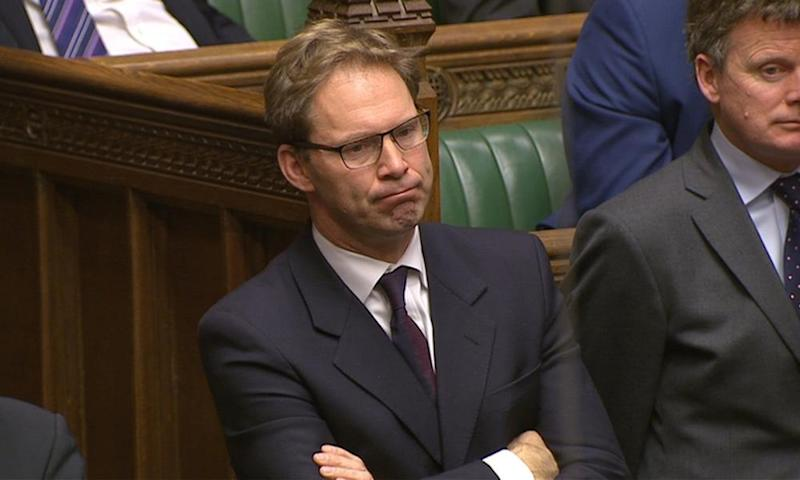 MP Tobias Ellwood listens to speeches in Parliament the morning after an attack in Westminster.