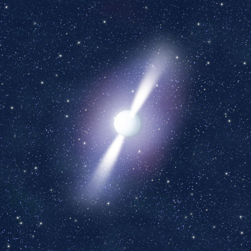 Pulsar, A neutron star that rotates rapidly on itself, thereby emitting regular radio waves. (Photo by: QAI Publishing/Universal Images Group via Getty Images)