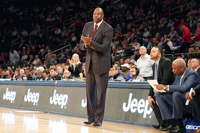 Georgetown coach and former New York Knicks star Patrick Ewing announced on Friday that he had tested positive for the coronavirus. (Mitchell Layton/Getty Images)