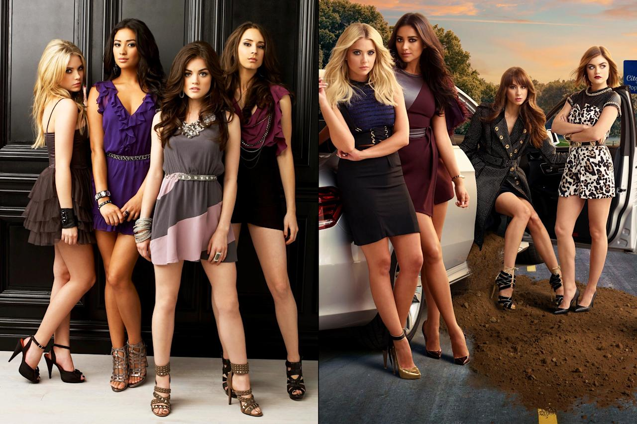 Take a look back at the evolution of your favorite <em>Pretty Liars.</em>