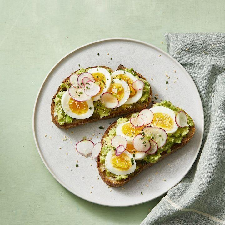 "<p>Mashed avocado with lemon juice on hearty toast is a delicious way to fill you up 'til the apps come out.</p><p><em><a href=""https://www.goodhousekeeping.com/food-recipes/easy/a30933199/smashed-avocado-toast-with-hard-boiled-eggs-recipe/"" rel=""nofollow noopener"" target=""_blank"" data-ylk=""slk:Get the recipe for Smashed Avocado Toast With Egg »"" class=""link rapid-noclick-resp"">Get the recipe for Smashed Avocado Toast With Egg »</a></em></p><p><strong>RELATED</strong><strong>:</strong> <a href=""https://www.goodhousekeeping.com/holidays/thanksgiving-ideas/g1379/make-ahead-thanksgiving-appetizers/"" rel=""nofollow noopener"" target=""_blank"" data-ylk=""slk:28 Easy Make-Ahead Thanksgiving Appetizers to Win Turkey Day"" class=""link rapid-noclick-resp"">28 Easy Make-Ahead Thanksgiving Appetizers to Win Turkey Day</a><br></p>"
