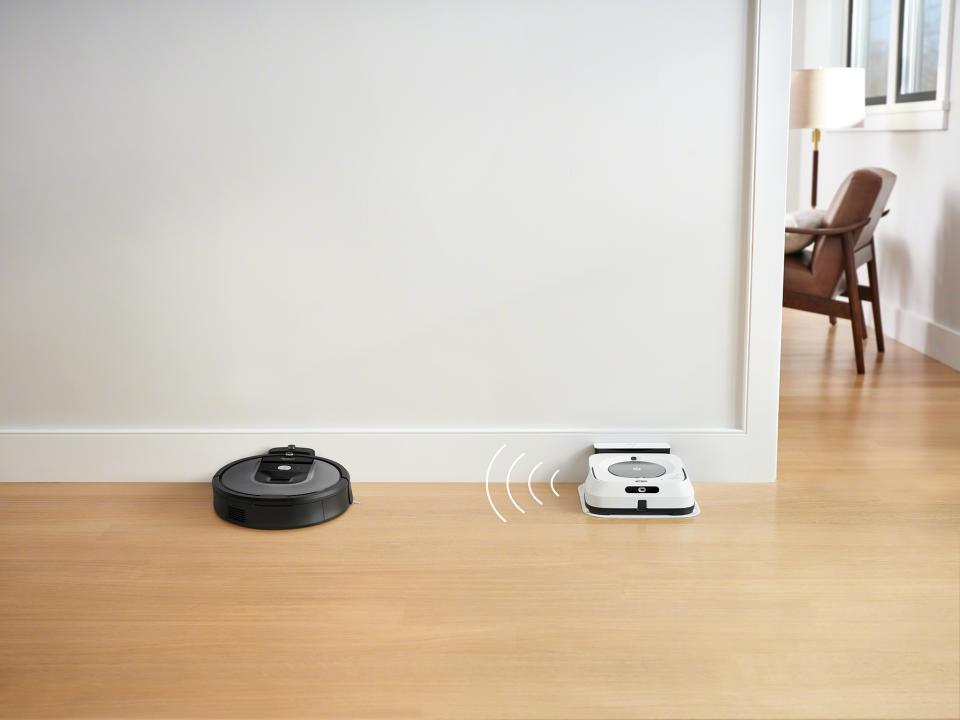 Talk to me, baby: the iRobot Roomba 960 is wifi connected. (Photo: Walmart)