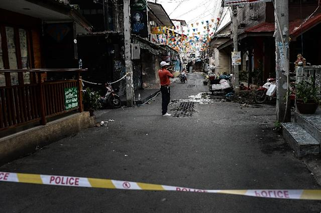 A double bomb attack took place on August 11 in the upscale resort town of Hua Hin (AFP Photo/Lillian Suwanrumpha)
