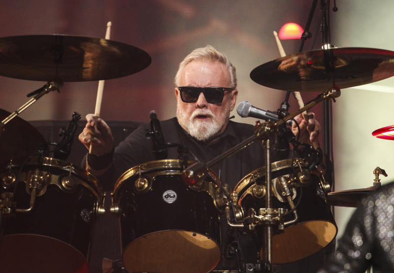 Roger Taylor with Queen + Adam Lambert performs during The Rhapsody Tour at State Farm Arena on Thursday, August 22, 2019, in Atlanta. (Photo by Robb Cohen/Invision/AP)