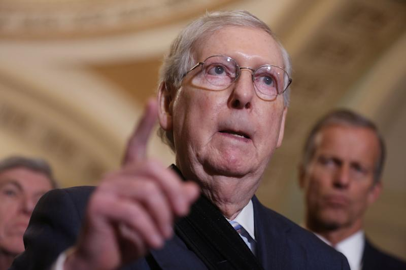 "Senate Majority Leader Mitch McConnell earned the nickname ""Moscow Mitch"" after repeatedly blocking election security funding amid warnings that Russia plans to interfere in the 2020 election. (Photo: Jonathan Ernst / Reuters)"