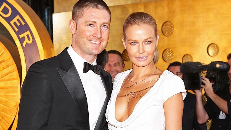 Michael Clarke and Lara Bingle, pictured here at the 2010 Allan Border Medal.