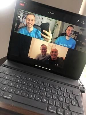 Send Me A Trainer Founders Bary El-Yacoubi and Muhssin El-Yacoubi Awarding First International Franchise in the United Kingdom Over Video Conference.