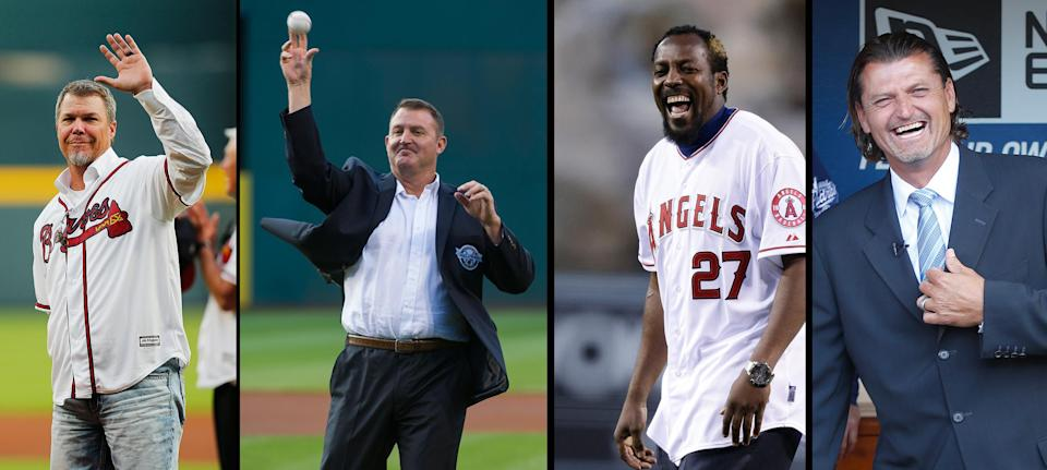 Chipper Jones, Jim Thome, Vladimir Guerrero and Trevor Hoffman were elected to the Hall of Fame on Wednesday. (AP)