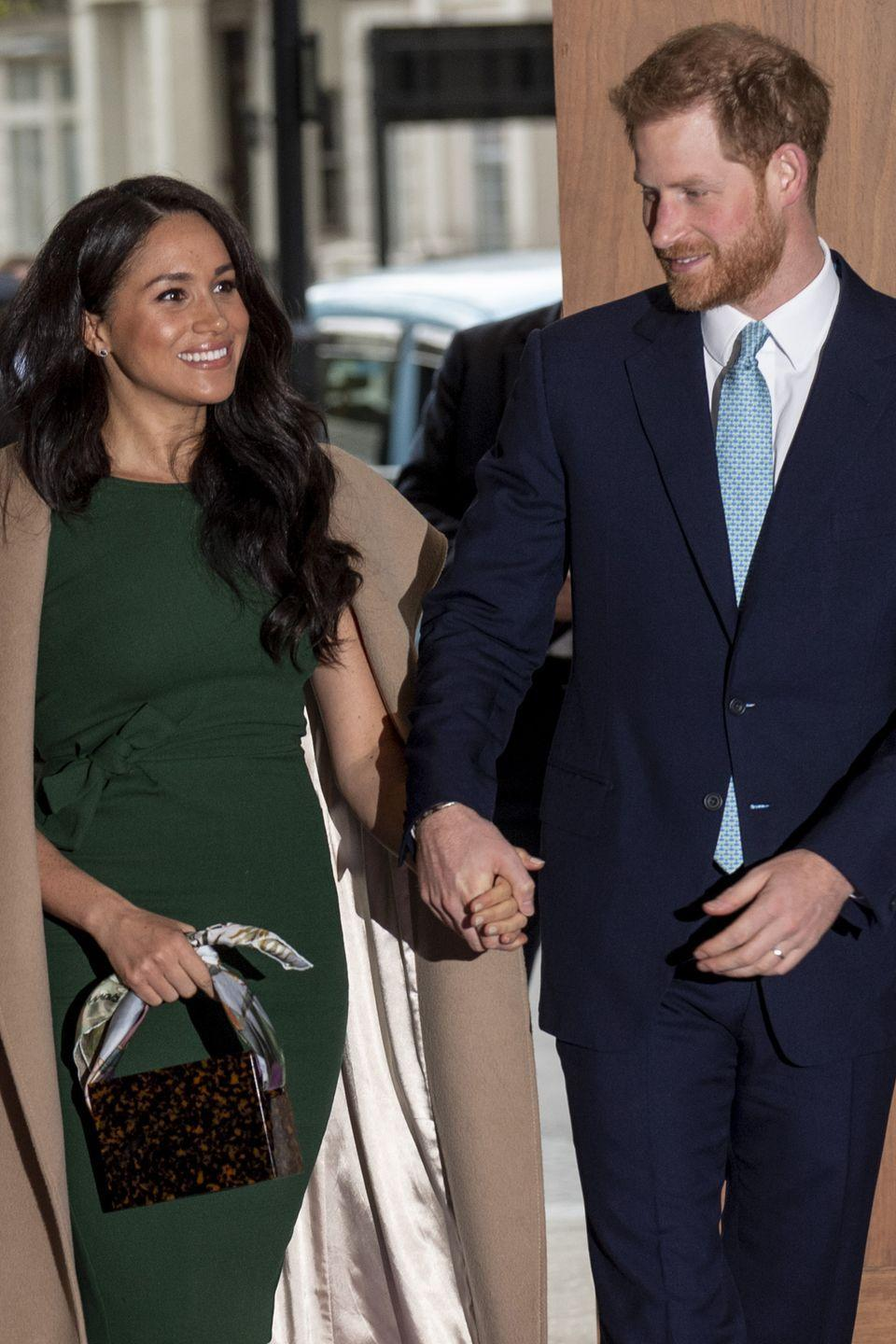 <p>Harry and Meghan are all smiles while attending the WellChild awards at Royal Lancaster Hotel.</p>