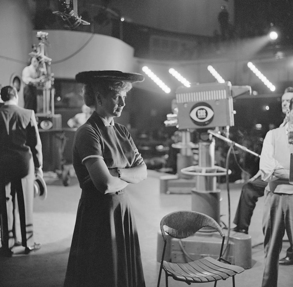 <p>Lucille returned to the CBS set to film a segment for <em>The Ed Sullivan Show</em> in 1956. Later that year, the actress and comedian also appeared on a TV special broadcast with Bob Hope. </p>