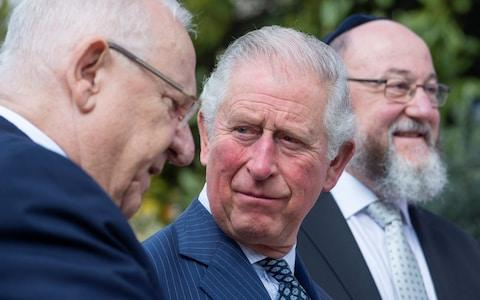 Prince Charles meets Israeli President Reuven Rivlin at his official residence in Jerusalem, Israel, 23 January 2020 - Credit: JULIAN SIMMONDS/POOL/EPA-EFE/REX