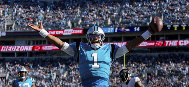 Cam Newton and the Panthers have won three straight and are 6-2 heading into Thursday night's game against the Pittsburgh Steelers. (AP)