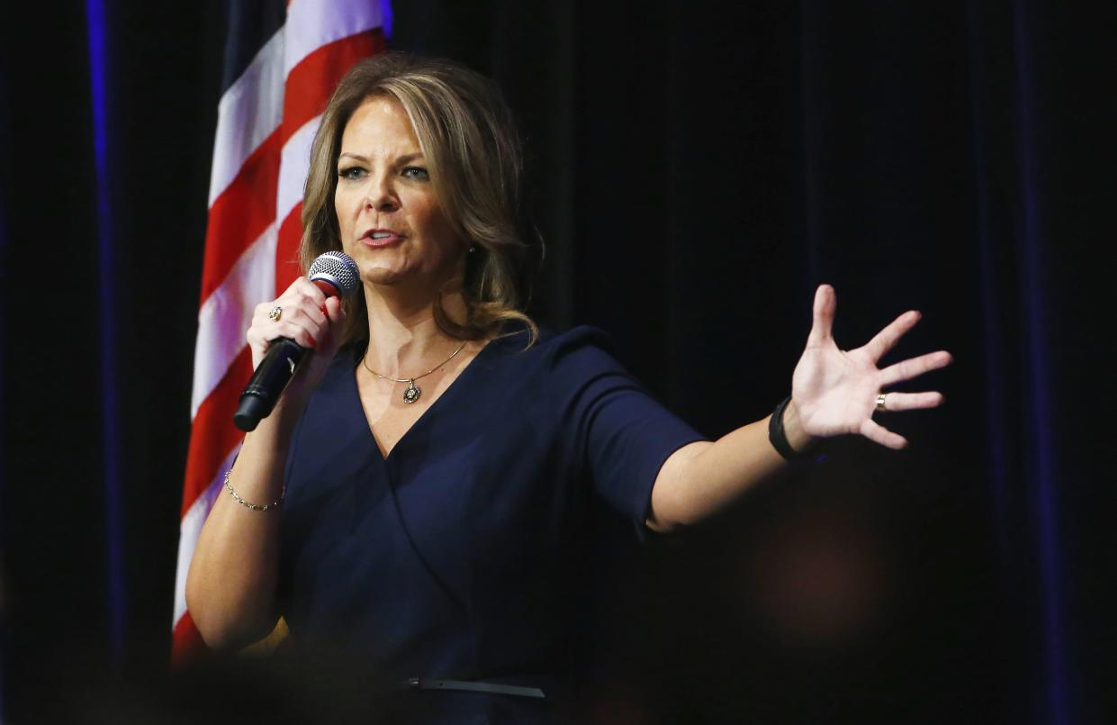 Arizona Senate candidate Kelli Ward speaks at a campaign rally in Scottsdale last year. (Photo: Ross D. Franklin/AP)