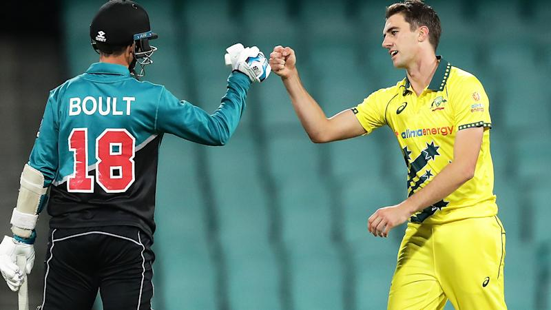 Australia and New Zealand, pictured here playing the first ODI behind closed doors at the SCG.