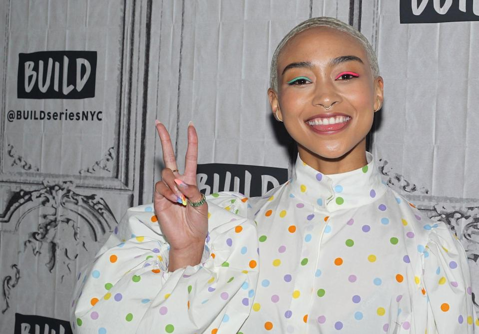 """<p>Before she got into the acting world, <a href=""""https://www.asifmag.com/story/basement-tapes-tati-gabrielle"""" class=""""link rapid-noclick-resp"""" rel=""""nofollow noopener"""" target=""""_blank"""" data-ylk=""""slk:Tati was modeling for Macy's"""">Tati was modeling for Macy's</a> and Nordstrom at just 3 years old. """"My mom volunteered to get me in a few fashion shows for Macy's and Nordstrom at the Westfield Center in San Francisco and a couple others in high school, but nothing serious or paid,"""" Tati previously told <strong>Wonderland</strong> magazine. """"My mom recalls me freezing in the middle of my first ever runway. I was a shy but eccentric kid and I always had a fire in my heart. I feel that fire is where I got my confidence from!""""</p>"""
