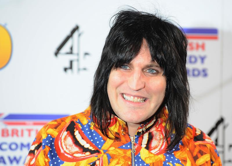 Noel Fielding caused mild controversy when he got inside a fridge. (Photo by Ferdaus Shamim/WireImage)