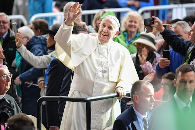 The Pope's visit is expected to attract hundreds of thousands of Catholics to a series of events in Dublin and Knock. (Getty)