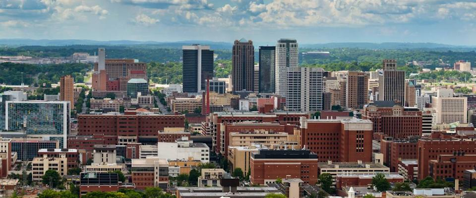 Downtown Birmingham, Alabama, from Vulcan Park