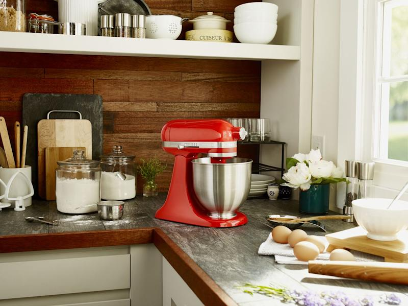 Save $230 on the KitchenAid Artisan Mini mixer. (Photo: Walmart)