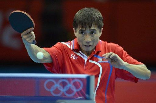 South Korea prevailed by three matches to one in an Olympic table tennis encounter with North Korea
