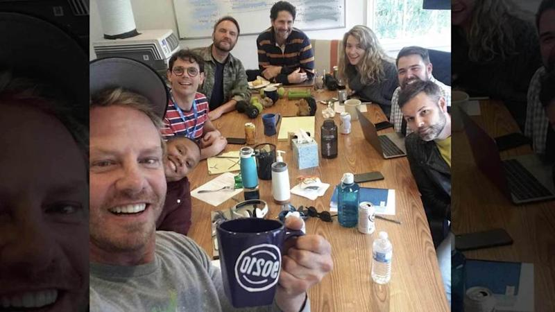 "<p>The ""Beverly Hills, 90210"" reboot is already in motion and Ian Ziering is sharing the first pic directly from the room where the magic happens! Ziering (aka Steve Sanders) posted a shot with all the writers after a ""great story meeting."" He's holding a ""90210"" mug and has a giant grin on his face, indicating […]</p> <p>The post <a rel=""nofollow"" rel=""nofollow"" href=""https://theblast.com/ian-ziering-90210-reboot-first-pic/"">Ian Ziering Shows Up in '90210' Writers' Room Showing the Reboot Is Underway</a> appeared first on <a rel=""nofollow"" rel=""nofollow"" href=""https://theblast.com"">The Blast</a>.</p>"