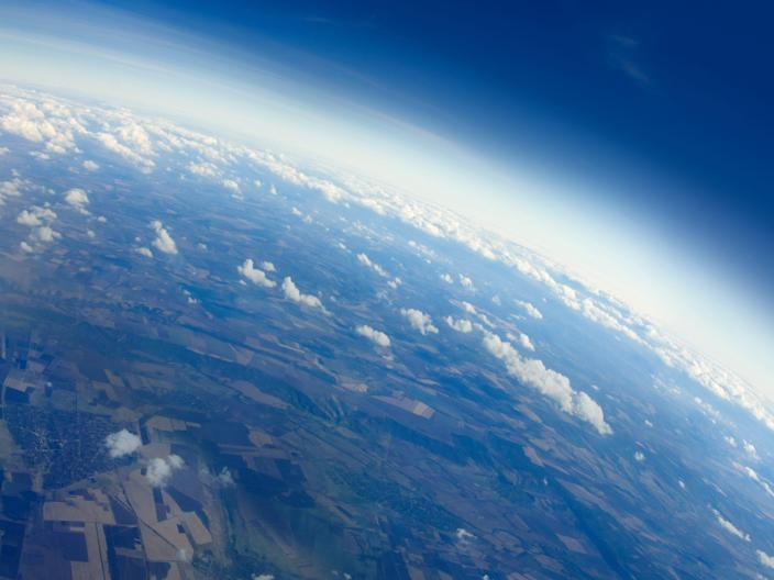 Clouds above earth