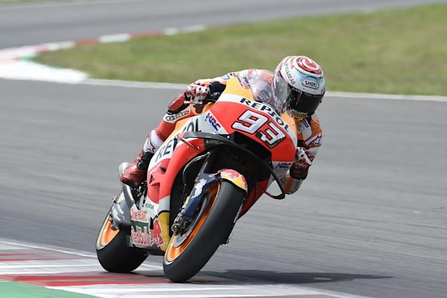 MotoGP championship leader Marc Marquez topped the post-Catalan Grand Prix test day at Barcelona