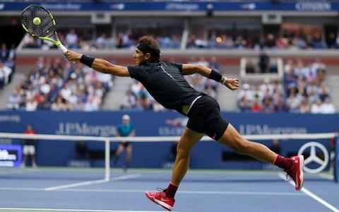 """Rafael Nadal restored order to this eccentric US Open last night, easing to a comfortable 6-3, 6-3, 6-4 victory over giant South African Kevin Anderson on Arthur Ashe Stadium. This contest always had """"blowout"""" written on it. Anderson came in as a first-time major finalist, and the lowest-ranked man – at No. 32 in the world - to play for the US Open trophy. No wonder Nadal had been listed at prohibitive odds to secure a 16th grand-slam title. Like the women's final on Saturday evening, the big occasion soon dwindled away into predictability. Nadal was dominant throughout. He broke the giant Anderson serve - which touched 136mph at one stage - no fewer than four times, while never giving up a break point himself. Nadal was dominant at Flushing Meadows Credit: AP The best hope for the underdog would have been to deliver ace after ace. Yet Anderson was landing that siege-gun of a first serve only 59 per cent of the time, his lowest figure for the whole tournament. In all probability, the dip was caused by overpressing. Nadal was giving his opponent so little to work with – only 11 unforced errors in the match – that Anderson tried too hard for the miracle serves, and lost his rhythm as a result. Among the women, the last couple of seasons have thrown up four new major champions. Among the men, however, the elite five-man cartel continues to monopolise the biggest titles, even if three of its members failed to sign in for this tournament because of injury. Anderson's serve hit 136mph, but wasn't enough to defeat Nadal Credit: AFP/Getty Images As yesterday's final reminded us, the gap between tennis's haves and have-nots remains as wide as the Hudson River. We saw a similar rout when Andy Murray disposed of Milos Raonic so serenely in last year's Wimbledon final. Nadal did everything better than Anderson. He moved with the electric pace of his heyday – a sign, perhaps, that the PRP (plasma-rich platelet) treatment he is believed to have used on his knees has succeeded in """