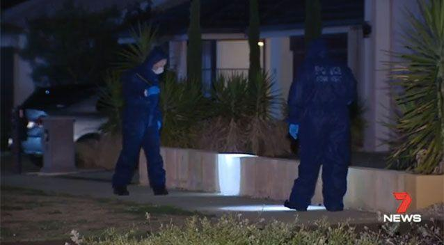 Police at the Piara Waters property. Picture: 7 News