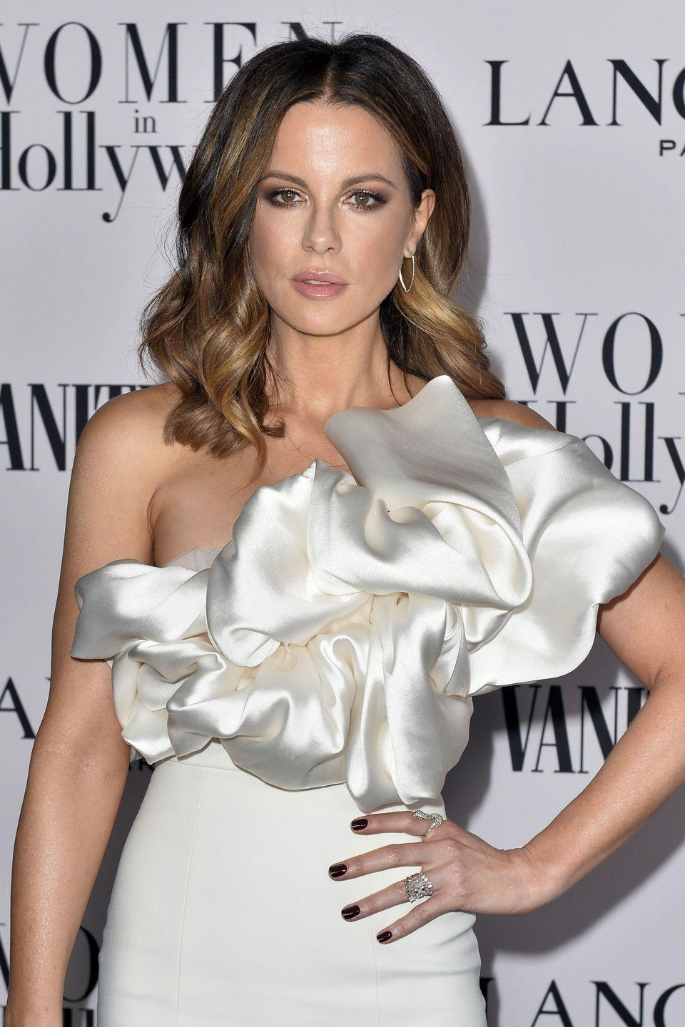 <p><strong>Kate Beckinsale</strong> always serves major hair inspiration. Her take on chestnut is no different — she keeps the trendy color light and playful with creamy balayage throughout. </p>