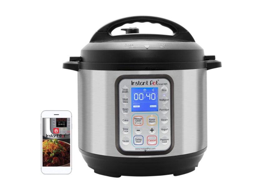 Instant Pot Smart Wi-Fi Pressure Cooker. Image via Best Buy.