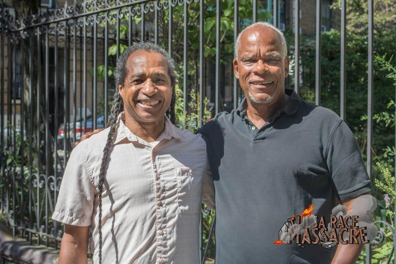 Marco Williams and Stanley Nelson, directors of Tulsa Burning: The 1921 Race Massacre.