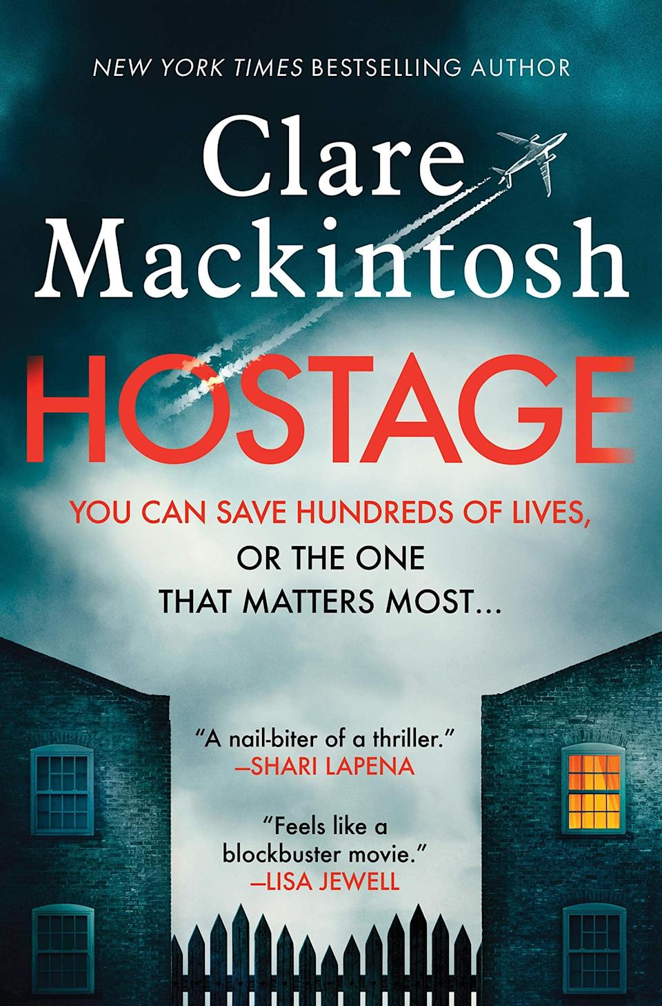 <p>If you're looking for a thriller that never lets up on the tension, then look no further than <span><strong>Hostage</strong></span> by Clare Mackintosh. Set entirely on a 20 hour non-stop flight from London to Sydney, the story follows a flight attendant named Mina who is faced with an impossible choice: comply with the demands of an anonymous passenger who doesn't want the plane to make it to its final destination or let her daughter and husband die in order to save a plane full of strangers. </p> <p><em>Out June 22</em></p>