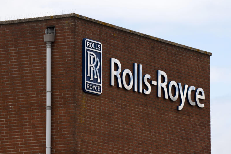 BRISTOL, UNITED KINGDOM - JULY 02: A close-up of the Rolls-Royce factory sign in Filton on July 02, 2020 in Bristol, United Kingdom. Many UK businesses are announcing job losses due to the effects of the coronavirus pandemic and lockdown. (Photo by Matthew Horwood/Getty Images)