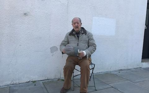 The 88-year-old former commando who rescued a young woman from two knife-wielding robbers - Credit: Evening Standard