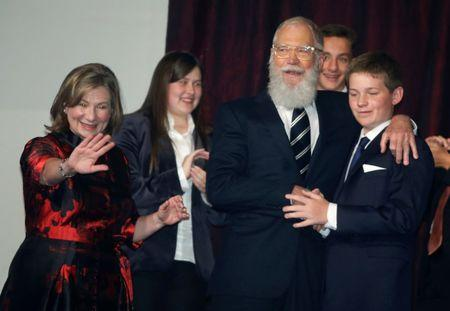 Comedian David Letterman arrives for a gala where he is receiving the Mark Twain Prize for American Humor in Washington