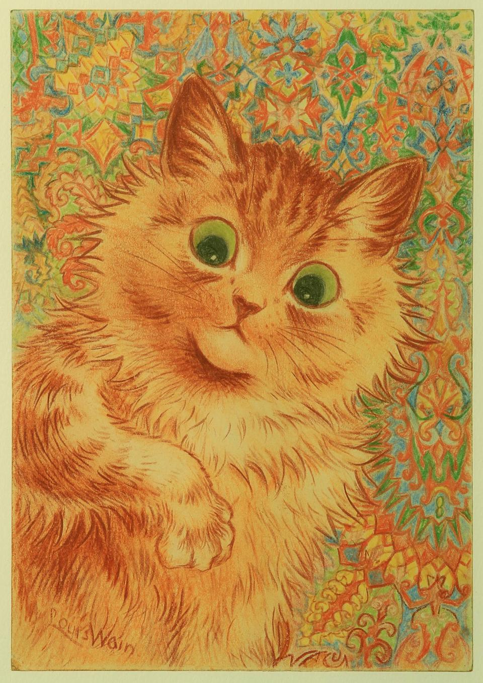 A painting by Louis Wain (Bethlem Museum of the Mind/PA)