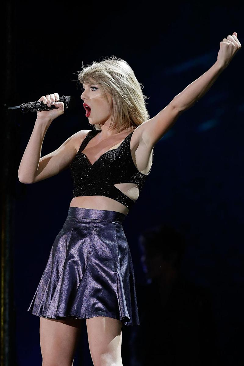 War: Kanye West fans were not impressed with Taylor Swift (Mark Metcalfe/Getty)