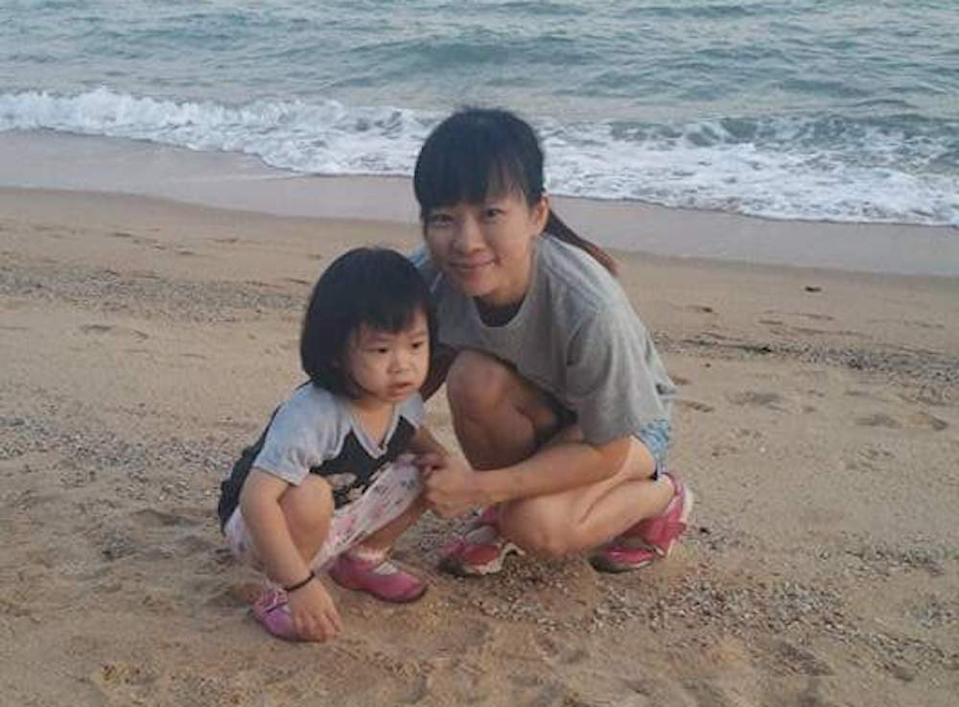 Teo Ghim Heng's wife and daughter. Teo, 43, is accused of strangling them to death in 2017. PHOTO: Eric Teo/Facebook