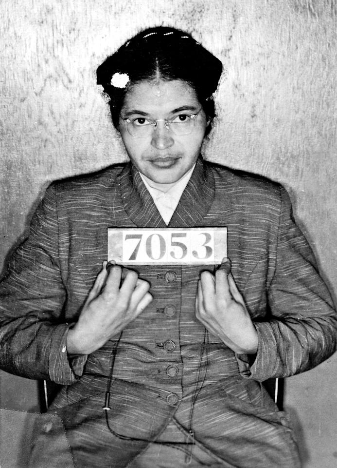 "The <a href=""https://people.com/politics/anniversary-rosa-parks-civil-rights-photos/"">civil rights activist</a> was born in Tuskegee, Alabama, to parents James and Leona McCauley. She is known for getting arrested after refusing to give up her bus seat to a white passenger, after a white bus driver demanded that she do so.  The brave act of defiance, which took place on Dec. 1, 1955, in Montgomery, Alabama, led to a year-long bus boycott by Montgomery's black residents. The movement eventually led to a Supreme Court ruling that said bus segregation was unconstitutional.  By Dec. 21, 1956, one year and 20 days after her initial arrest, <a href=""https://people.com/politics/anniversary-rosa-parks-civil-rights-photos/?slide=5539457#5539457"">Parks was photographed sitting in the front seat of a bus</a> after her long-fought victory.  Parks died in 2005 after a lifetime of fighting against civil rights injustices."
