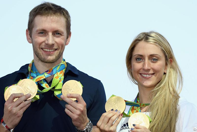 Expectant parents: Laura and Jason Kenny are expecting their first baby: (Bryn Lennon/Getty Images)