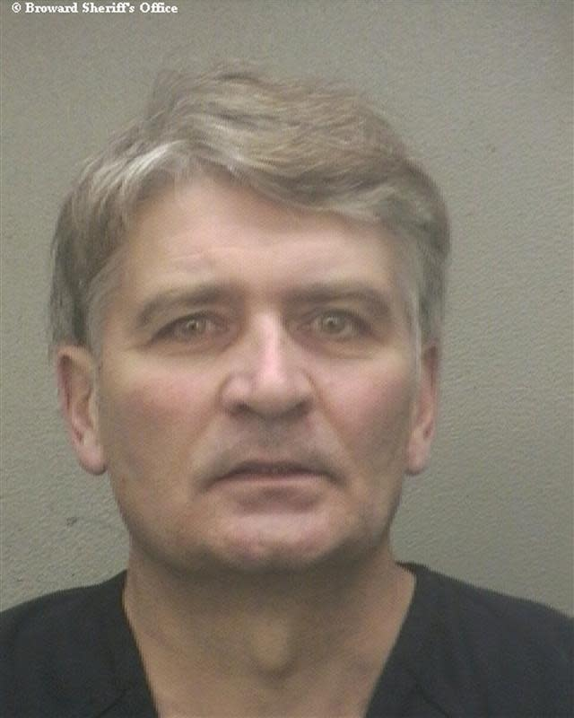 Former UBS banker Raoul Weil in a booking photo after his arrival at the Broward Sheriff's Office in Fort Lauderdale