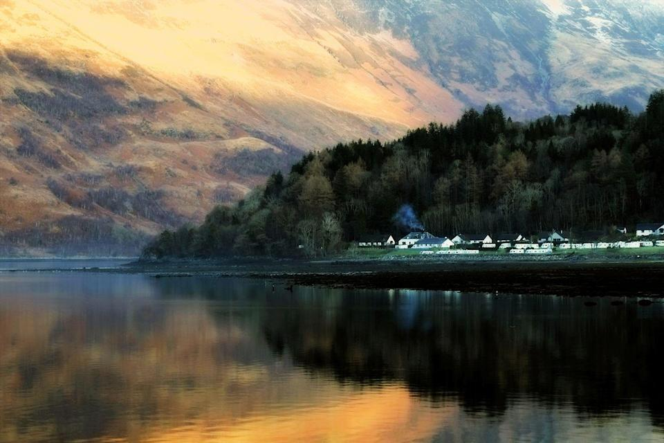 """<p>This is the remote Glencoe Village, on the edge of Loch Leven, in the Scottish Highlands.</p><p><a class=""""link rapid-noclick-resp"""" href=""""https://www.countrylivingholidays.com/tours/scotland-highlands-steam-train-jacobite"""" rel=""""nofollow noopener"""" target=""""_blank"""" data-ylk=""""slk:SEE THE HIGHLANDS BY STEAM"""">SEE THE HIGHLANDS BY STEAM</a></p>"""