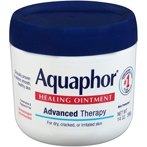 """<p><strong>Aquaphor</strong></p><p>amazon.com</p><p><strong>$13.74</strong></p><p><a href=""""https://www.amazon.com/dp/B006IB5T4W?tag=syn-yahoo-20&ascsubtag=%5Bartid%7C10055.g.32906564%5Bsrc%7Cyahoo-us"""" rel=""""nofollow noopener"""" target=""""_blank"""" data-ylk=""""slk:Shop Now"""" class=""""link rapid-noclick-resp"""">Shop Now</a></p><p>The ultimate multi-tasking moisturizer for both face and body, Aquaphor is a GH Seal holder, Beauty Lab go-to, <em>and</em> dermatologist-recommended. Packed with rich hydrators like panthenol and glycerin, <strong>c</strong><strong>linical studies prove that the salve decreases skin dryness, irritation, and even cracking</strong> without clogging pores.</p>"""