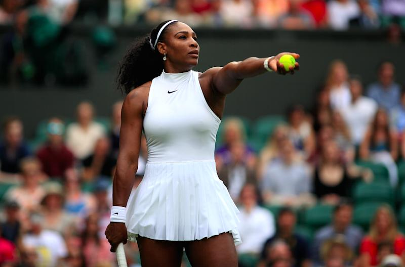 Serena Williams wore a bespoke version of the Nike Premier Slam dress that  has been garnering so many headlines  Photo  PA Images  725be087cf2