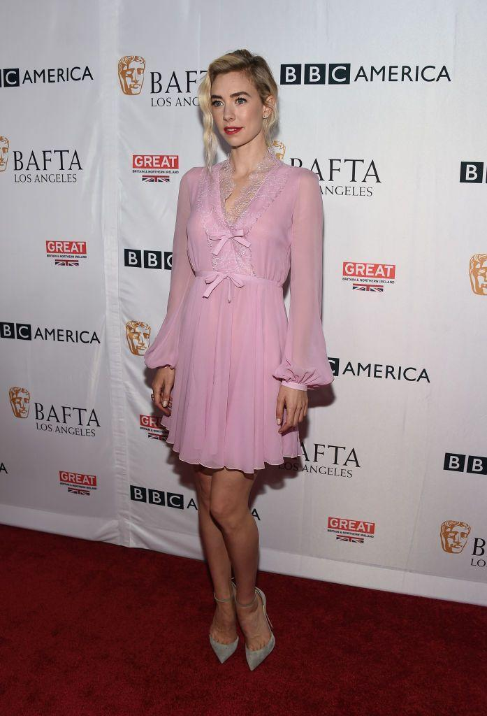 <p>For the BAFTA Pre-Emmys party, Kirby sported a pink dress with double bow embellishments. </p>